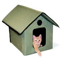 K&H Pet Products Tan Denier Nylon/Vinyl Outdoor Non-heated Kitty House