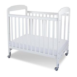 Foundations Serenity Clearview Adjustable Compact Crib with Mattress