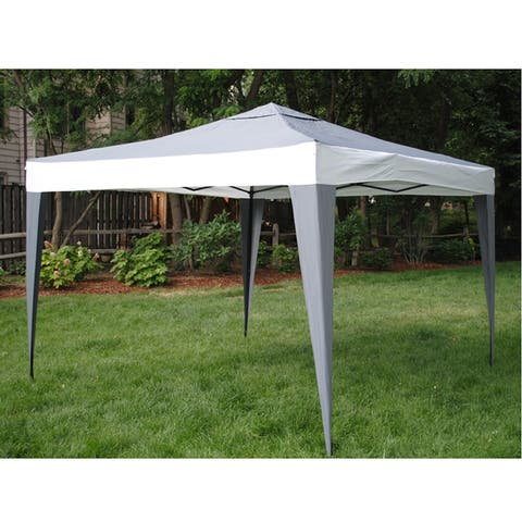 Handmade ProGarden Polyester and Steel Gray Canopy Tent