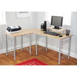 Simple Living L-shaped Natural Computer Desk