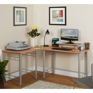 Simple Living L-shaped Natural Computer Desk