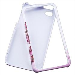 INSTEN 2-piece 'Spring Flowers' Armband/ Phone Case Cover for Apple iPhone 4 - Thumbnail 2