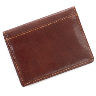 Tony Perotti Men's Italian Bull Leather Front Pocket Weekender Credit Card Wallet with ID Window