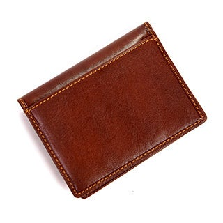 Tony Perotti Men's Italian Bull Leather Thin Bifold Credit Card Holder Wallet