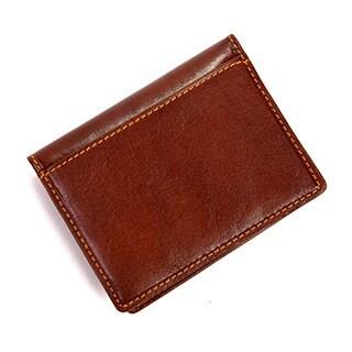 Tony Perotti Men's Italian Bull Leather Thin Bifold Credit Card Holder Wallet