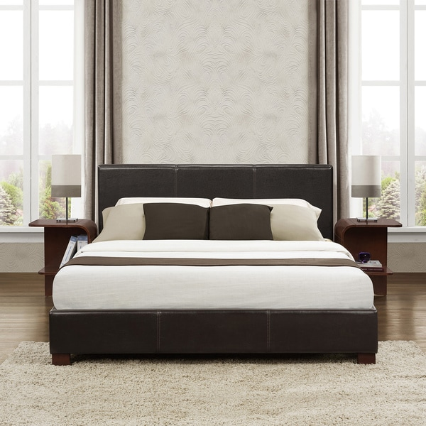 TRIBECCA HOME Hermes Dark Brown Full-size Platform Bed