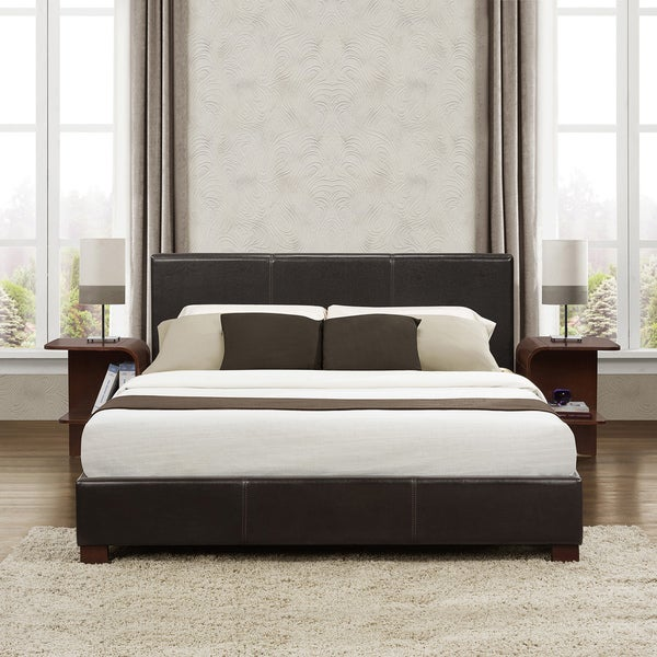 TRIBECCA HOME Hermes Dark Brown Full-size Platform Bed