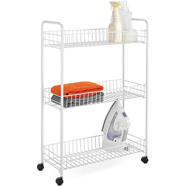 Honey Can Do Crt 01149 White 3 Tier Rolling Cart Free