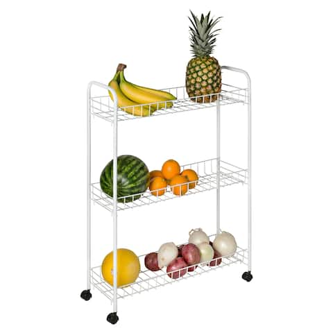 Honey Can Do CRT-01149 White 3-tier Rolling Cart