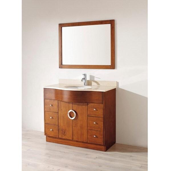 Berlin 42-inch Classic Cherry Beige Single Sink Vanity Set