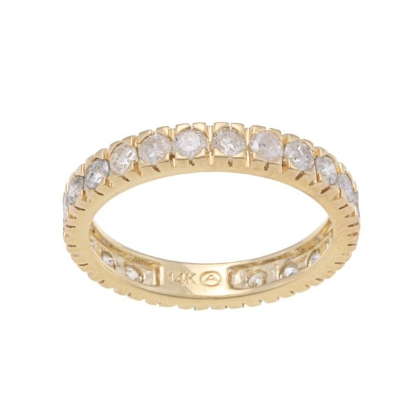 14k Gold 1 1/2ct TDW Diamond Wedding Band (H-I, I2-I3)