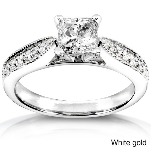 Annello by Kobelli 14k White Gold 7/8ct TDW Diamond Engagement Ring (H-I, I1-I2)