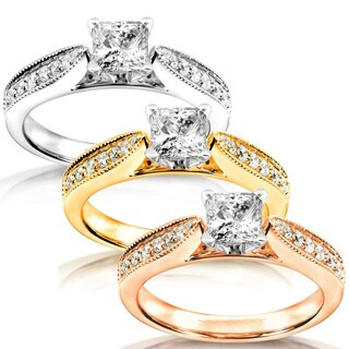Annello by Kobelli 14k Gold 5/8ct TDW Diamond Engagement Ring (H-I, I1-I2)