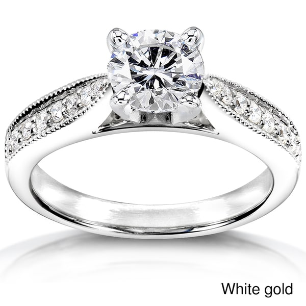 Annello by Kobelli 14k White Gold 1 1/6ct TDW Diamond Engagement Ring (H-I, I1-I2)