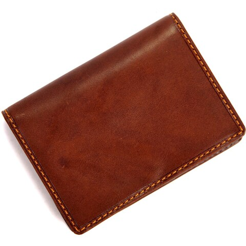 Tony Perotti Unisex Italian Cow Leather Front Pocket Business and Credit Card Case Wallet with ID Window
