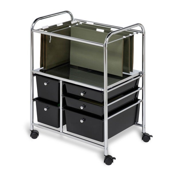 shop honey can do 5 drawer rolling file cart free shipping today 6048123. Black Bedroom Furniture Sets. Home Design Ideas