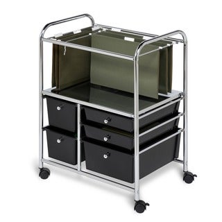 Honey Can Do 5-drawer Rolling File Cart