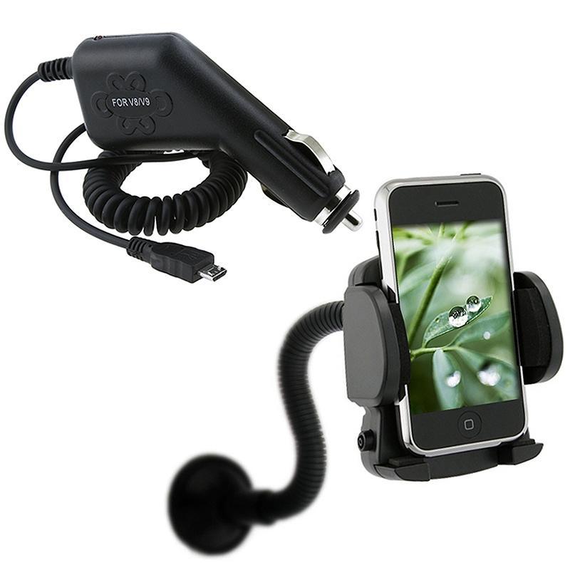 INSTEN Car Charger/ Mounted Holder for Samsung Intercept Moment