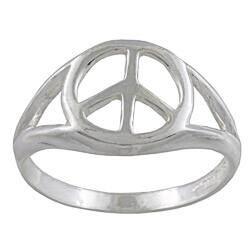 Silvermoon Sterling Silver Peace Sign Ring|https://ak1.ostkcdn.com/images/products/6048251/Silvermoon-Sterling-Silver-Peace-Sign-Ring-P13726012.jpg?impolicy=medium