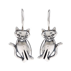 Silvermoon Sterling Silver Cat Earrings