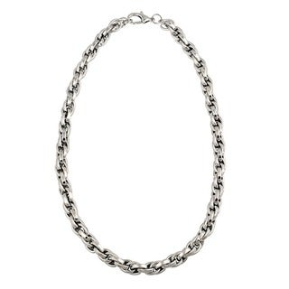 Mondevio Stainless Steel 24-inch Cable Chain Necklace