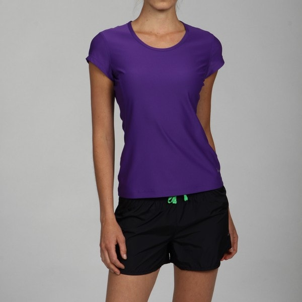Freemotion Women's True Purple Scoop Neck Workout Tee