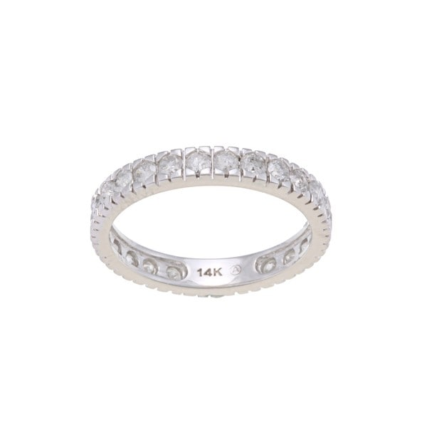 14k White Gold 1 1/4ct TDW Diamond Wedding Band (H-I, I2-I3)