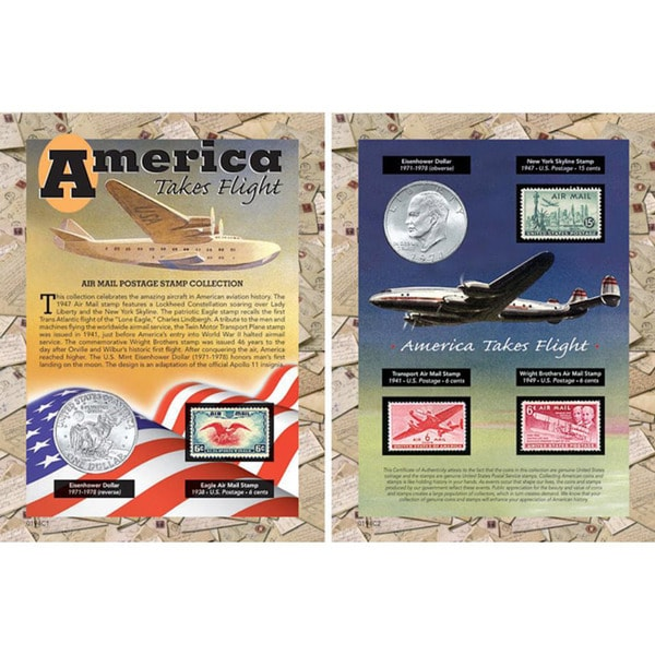 American Coin Treasures 'America Takes Flight' Coin and Stamp Collection