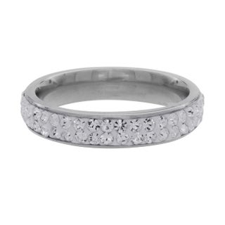 NEXTE Jewelry Stainless Steel Stackable Cubic Zirconia Eternity Band (4 options available)