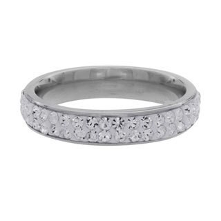 NEXTE Jewelry Stainless Steel Stackable Cubic Zirconia Eternity Band (3 options available)