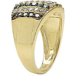 Malaika Gold-Plated 7/8ct TDW Multi-Color Diamond Cocktail Ring - Thumbnail 1