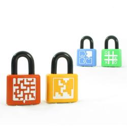 Turning Point Armored 40mm Plastic Covered Padlock (Set of 4)