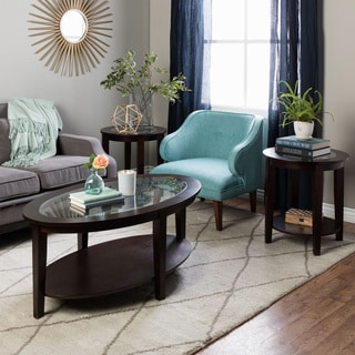 Stones \u0026 Stripes Oval 3-piece Table Set & Table Sets Coffee Console Sofa \u0026 End Tables For Less | Overstock
