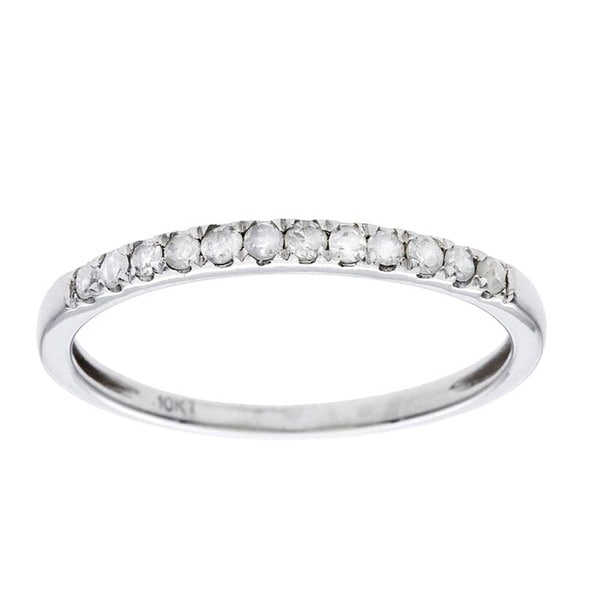 10k Gold 1/5ct TDW Diamond Wedding Band