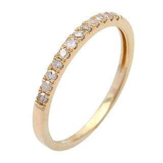 10k Gold 1/5ct TDW Diamond Wedding Band (G-H, I1-I2)