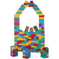 Kids Adventure Multicolor Building Construction Jumbo Blocks Set (192 Pieces)