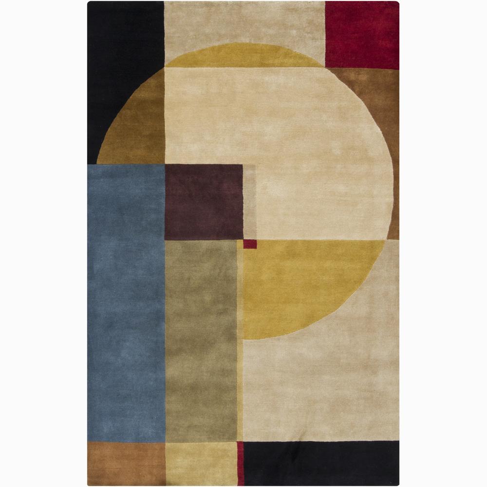 Hand-knotted Mandara Geometric New Zealand Wool Rug (9' x 12')