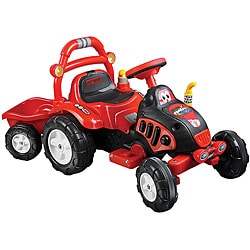 Ride On Toy Tractor & Trailer, Battery Powered Ride On Toy by Lil' Rider – Ride On Toys for Boys & Girls