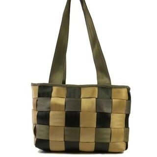 Handmade Checkered Porsche Seatbelt Tote Handbag (India)