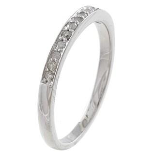 10k White Gold 1/5ct TDW Diamond Wedding Band