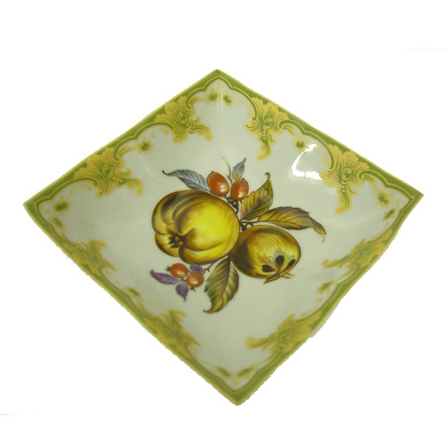 Square Fruit Design Porcelain Bowl