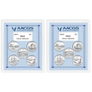 American Coin Treasures Brilliant Uncirculated Statehood Quarters (California, Minnesota, Oregon, Ka
