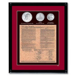 American Coin Treasures Framed U.S. Constitution With All 3 Bicentennial Coins|https://ak1.ostkcdn.com/images/products/6051529/American-Coin-Treasures-Framed-U.S.-Constitution-With-All-3-Bicentennial-Coins-P13728558.jpg?impolicy=medium