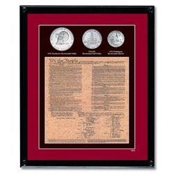 American Coin Treasures Framed U.S. Constitution With All 3 Bicentennial Coins