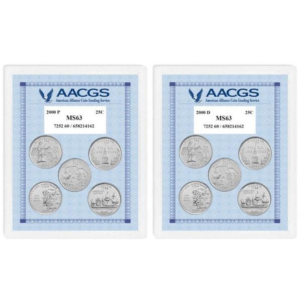 American Coin Treasures Uncirculated Statehood Quarters (Massachusetts, Maryland, South Carolina, Ne