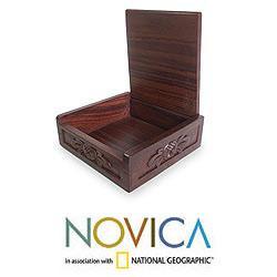 Sono Wood 'Lion's Head' Jewelry Box (Indonesia)