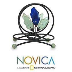 Handcrafted Iron 'Blue Nature' Recycled Glass Letter Holder (Ghana) https://ak1.ostkcdn.com/images/products/6051692/76/46/Handcrafted-Iron-Blue-Nature-Recycled-Glass-Letter-Holder-Ghana-P76046678.jpg?impolicy=medium