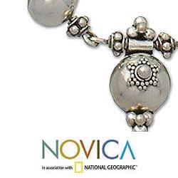 Handmade Sterling Silver 'Trinity Cross' Necklace (Indonesia) - Thumbnail 2