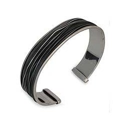 Handmade Men's Sterling Silver 'Mezcala River' Cuff Bracelet (Mexico)