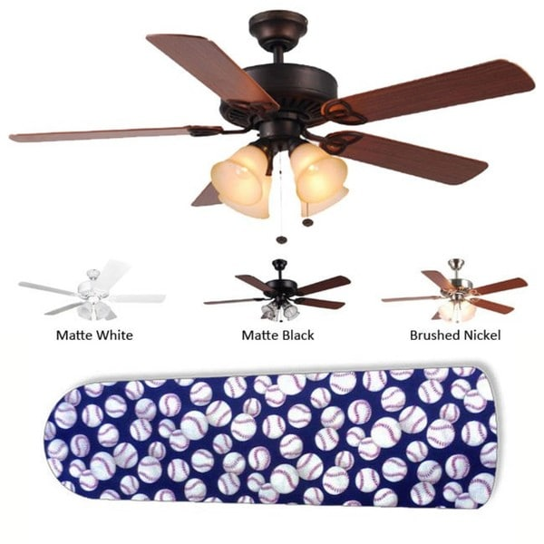 New Image Concepts 4-light 'Baseball' Ceiling Fan